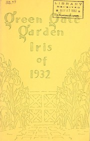 Cover of: Iris of 1932 | Green Gate Garden