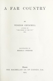 Cover of: A Far Country | Winston Churchill