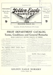 Cover of: Fruit Department catalog | Golden Eagle Nursery