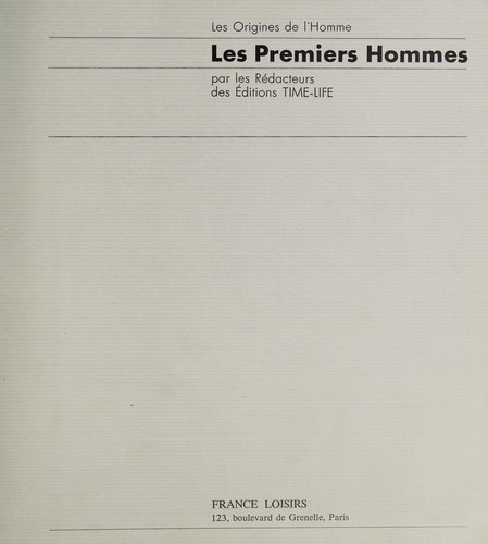 Les Premiers hommes by Time-Life books