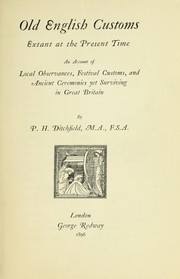 Cover of: Old English customs