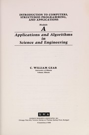 Cover of: Applications and algorithms in science and engineering | C. William Gear