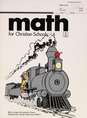 Cover of: Math for Christian schools | Marilyn Elmer