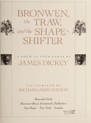 Cover of: Bronwen, the traw, and the shape-shifter