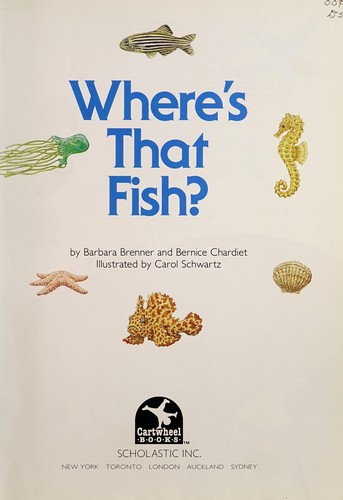 Where's that fish? by Barbara Brenner