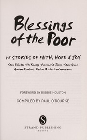 Cover of: Blessings of the poor | Paul O