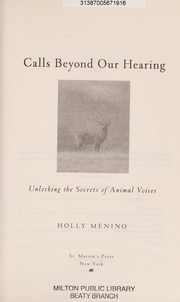 Cover of: Calls beyond our hearing