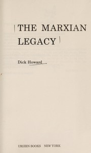 Cover of: The Marxian legacy