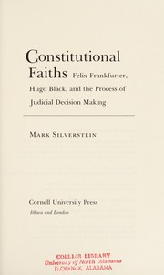 Cover of: Constitutional faiths