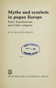 Cover of: Myths and symbols in pagan Europe | Hilda Roderick Ellis Davidson