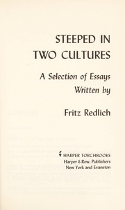 Cover of: Steeped in two cultures | Fritz Redlich