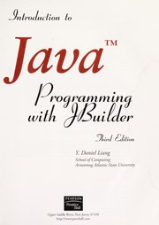 Cover of: Introduction to Java programming with JBuilder®