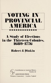 Cover of: Voting in provincial America