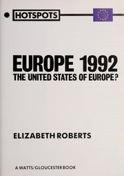 Cover of: Europe 1992 | Roberts, Elizabeth