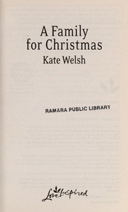 Cover of: A family for Christmas | Kate Welsh