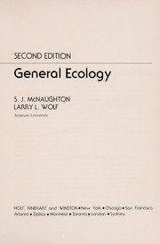 Cover of: General ecology | S. J. McNaughton