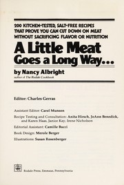 Cover of: A little meat goes a long way-- | Nancy Albright