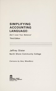 Cover of: Simplifying accounting language