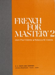 Cover of: French for Mastery 2 | Jean-Paul Valette