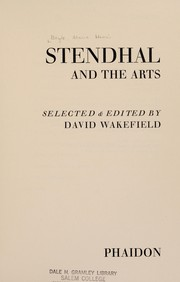 Cover of: Stendhal and the arts