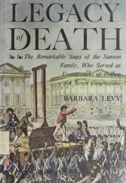 Cover of: Legacy of death | Barbara Levy
