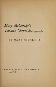 Cover of: Theatre chronicles, 1937-1962