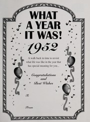 Cover of: What a year it was! 1952