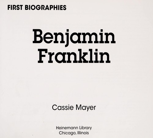 Benjamin Franklin by Cassie Mayer