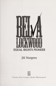 Cover of: Belva Lockwood | Jill Norgren