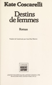 Cover of: Destins de femmes | Kate Coscarelli