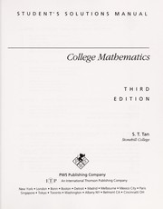 Cover of: College mathematics | Soo Tang Tan