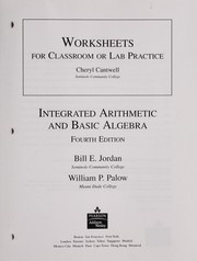 Cover of: Worksheets for classroom or lab practice | Bill E. Jordan