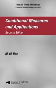 Cover of: Conditional measures and applications