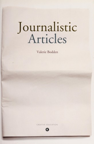 Journalistic articles by Valerie Bodden