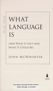 Cover of: What language is