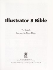 Cover of: Illustrator 8 bible | Ted Alspach