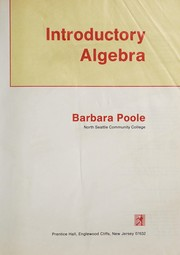 Cover of: Introductory algebra | Barbara Poole