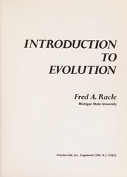 Cover of: Introduction to evolution | Fred A. Racle