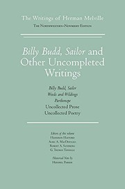 Cover of: Billy Budd, Sailor and Other Uncompleted Writings