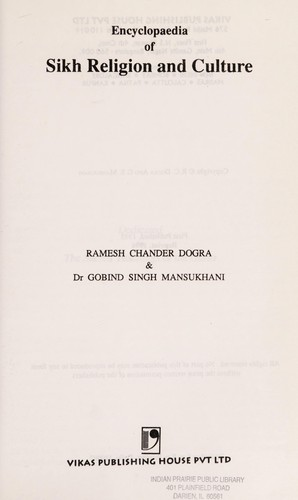 Encyclopaedia of Sikh religion and culture by R. C. Dogra