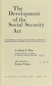 Cover of: The development of the Social security act