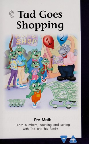 Leapfrog Leap Start Preschool-k up to 5 (Pre-Math Tad goes shopping Hop & Shop, Book & Cartridge) by Leapfrog