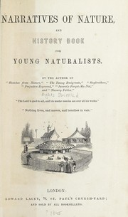 Cover of: Narratives of nature, and history book for young naturalists