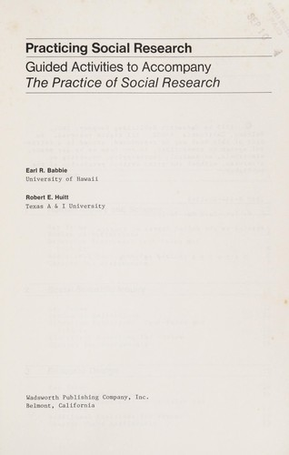 Practicing social research by Earl R. Babbie