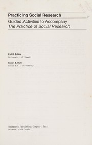 Cover of: Practicing social research | Earl R. Babbie