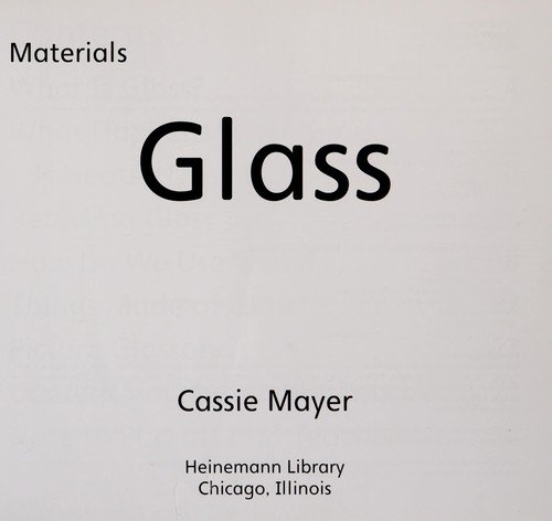 Glass by Cassie Mayer