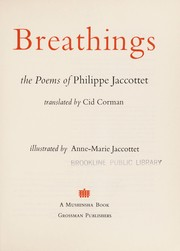 Cover of: Breathings | Philippe Jaccottet