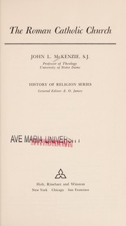 Cover of: Roman Catholic Church | John L Mekenzie