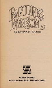 Cover of: Rapture's Ransom