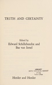 Cover of: Truth and certainty